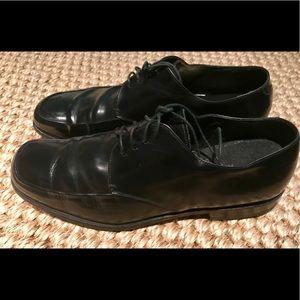 3606 Prada Derby Black Leather Oxford Shoes 7 (2E)